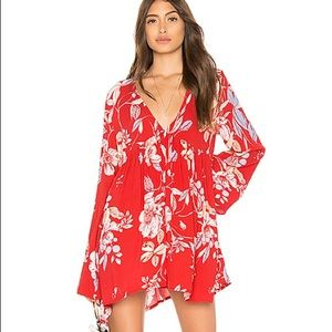 Free People Bella Tunic Dress Red M